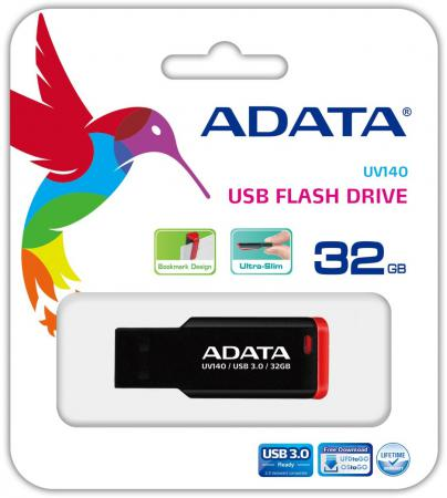 Флешка USB 32Gb A-Data UV140 AUV140-32G-RKD красный цена и фото