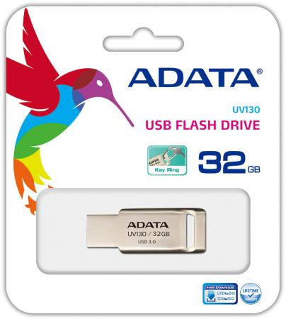 Флешка USB 32Gb A-Data UV130 AUV130-32G-RGD золотой