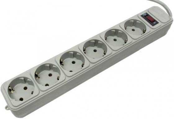 Удлинитель Pilot Extender 6 розеток 1.8 м серый насадка удлинитель adjustable extender
