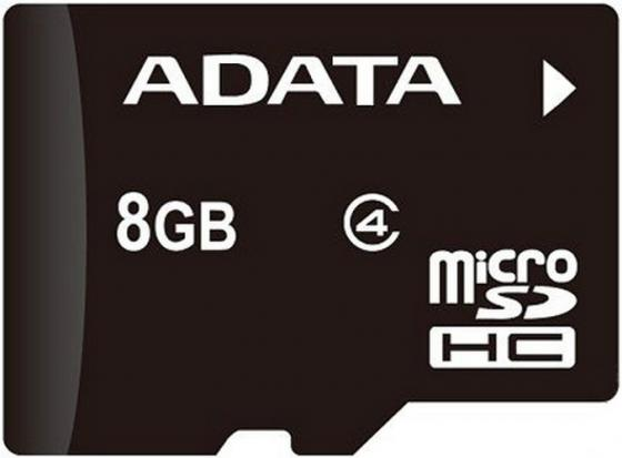 Карта памяти Micro SDHC 8GB Class 4 A-Data AUSDH8GCL4-R elastic closure folder hold a 4 documents files genuine cowhide leather first class manager document bag joy corner store 2018