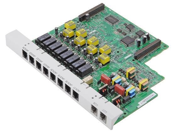Плата дополнительных линий Panasonic KX-TE82480X 8 аналоговых внутренних линий + 2 внешние линии для АТС TES/M 824 атс panasonic kx tem824ru аналоговая 6 внешних и 16 внутренних линий предельная ёмкость 8 24 линий