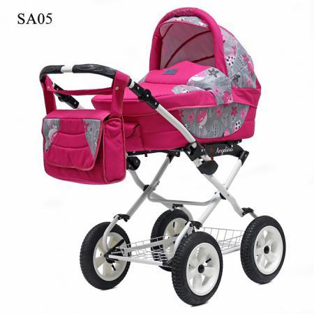 Коляска 2-в-1 Teddy BartPlast Angelina PKL 2016 (SA05/розовый) коляска 2 в 1 teddy bartplast angelina pkl 2016 pl01 синий