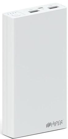 лучшая цена Внутренний аккумулятор 15000 мАч HIPER RP15000 белый