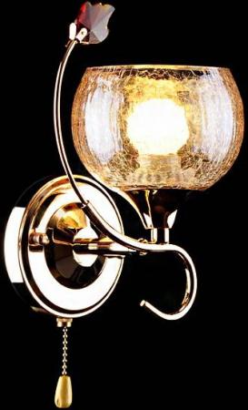 Бра Eurosvet 3457/1H золото/коричневый бра eurosvet 3457 1h хром белый