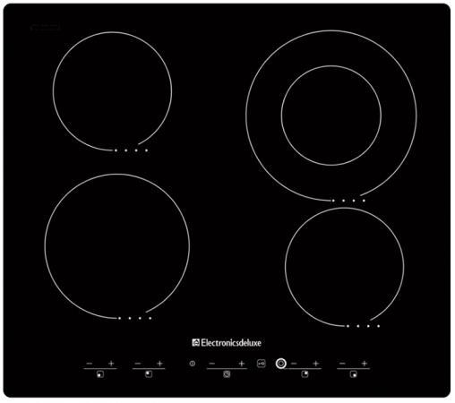 Варочная панель электрическая Electronicsdeluxe 595204.01 эви черный варочная панель electronicsdeluxe 595204 01 эви индукционная независимая черный