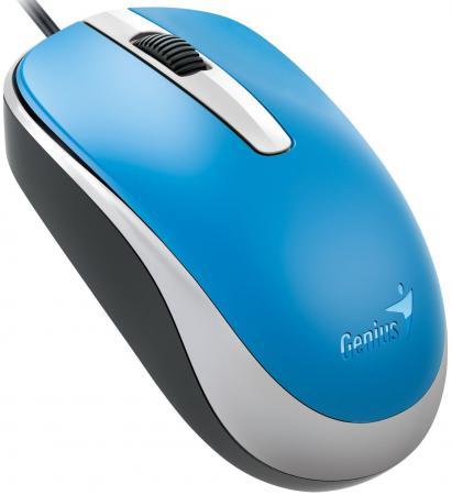 Фото - Мышь проводная Genius DX-120 голубой USB мышь genius dx 120 calm black usb