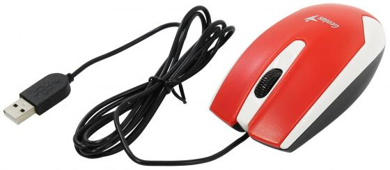 Мышь проводная Genius DX-100X белый красный USB мышь genius dx 100x blue usb 31010229102