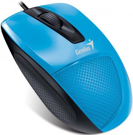 Мышь проводная Genius DX-150X голубой чёрный USB мышь проводная genius dx 135 black usb