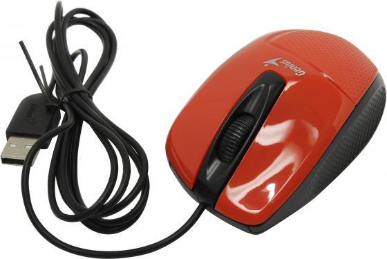 лучшая цена Мышь проводная Genius DX-150X красный USB