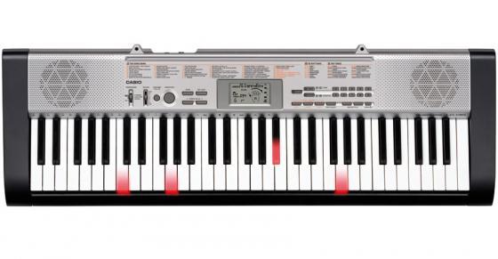 Синтезатор Casio LK-130 61 клавиша USB черный/серебристый синтезатор casio wk 7600 76 невзвешенная полноразмерные 64 черный
