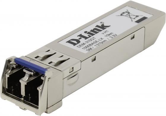 Трансивер сетевой D-Link DEM-310GT/G1A  1-port mini-GBIC LX Single-mode Fiber Transceiver трансивер сетевой d link 100base fx single mode 15km sfp transceiver 10 pack dem 210 10 b1a