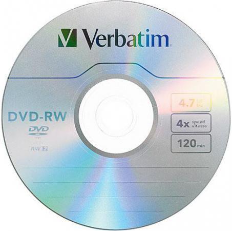 Фото - DVD-RW 4x 4.7Gb Jewel Serl Verbatim [43285/43485/43486] dvd blu ray