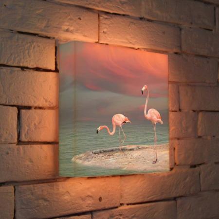 Лайтбокс Фламинго 25x25-022 лайтбокс фламинго 45x45 022