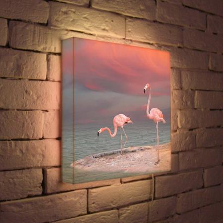 Лайтбокс Фламинго 35x35-022 лайтбокс фламинго 45x45 022