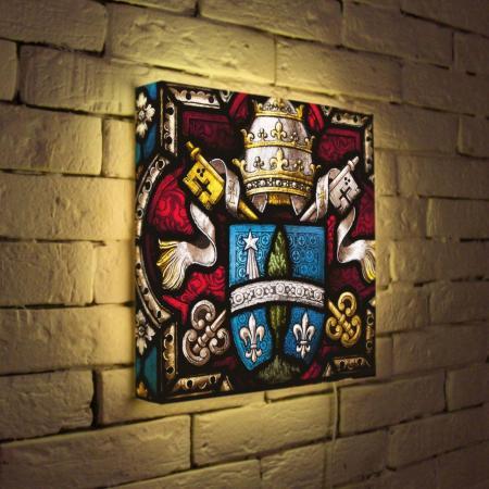 Лайтбокс Герб 35x35-061 fotoniobox лайтбокс герб 45x45 061