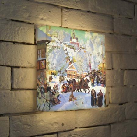 Лайтбокс Кустодиев Масленница 25x25-126 цена