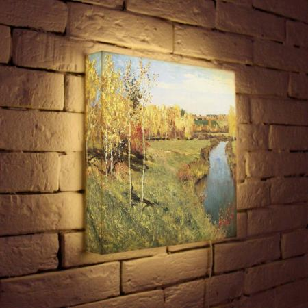 Лайтбокс Левитан Золотая осень 35x35-141 картина золотая осень левитан