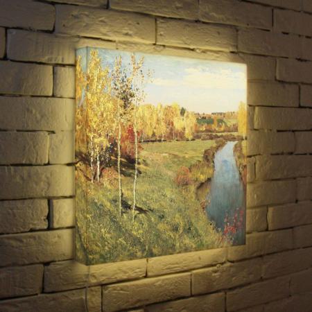 Лайтбокс Левитан Золотая осень 45x45-141 картина золотая осень левитан
