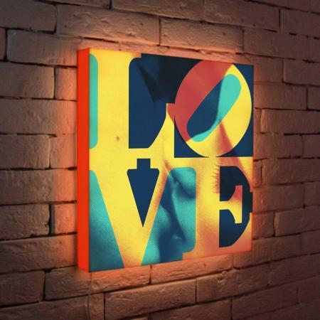 Лайтбокс LOVE 1 45x45-041 лайтбокс love 1 45x45 041