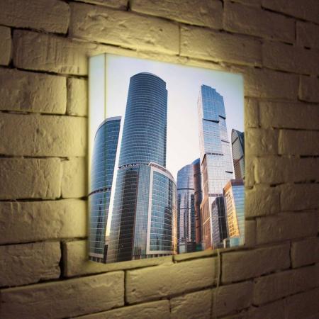 Лайтбокс Москва-Сити 35x35-008 лайтбокс москва сити 45x45 008