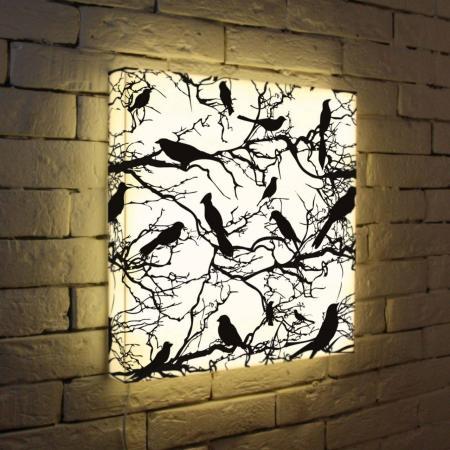 Лайтбокс Птицы зимой 45x45-021 fotoniobox лайтбокс птицы зимой 45x45 021