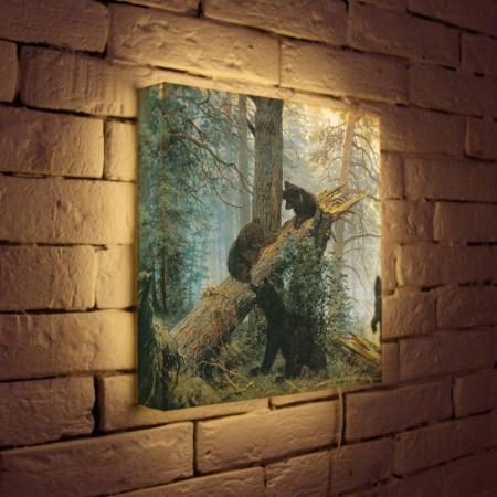 Лайтбокс Шишкин Утро в сосновом лесу 35x35-152 лайтбокс шишкин утро в сосновом лесу 35x35 152