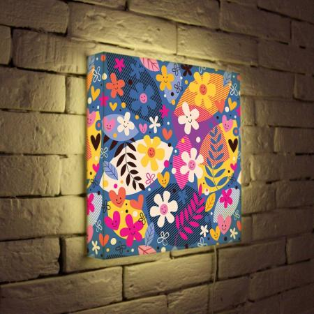 Лайтбокс Цветочки 35x35-010 fotoniobox лайтбокс цветочки 25x25 010
