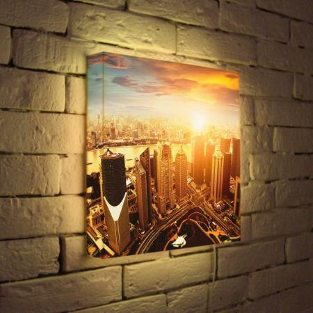 Лайтбокс Вечерний Шанхай 35x35-026 fotoniobox лайтбокс вечерний шанхай 35x35 026