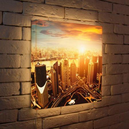 Лайтбокс Вечерний Шанхай 45x45-026 лайтбокс вечерний шанхай 45x45 026