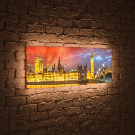 Лайтбокс панорамный Лондон 35x105-p003 fotoniobox лайтбокс панорамный лондон 45x135 p003