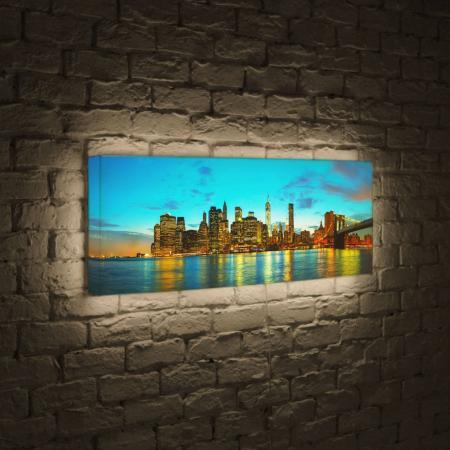 Лайтбокс панорамный Огни большого города 60x180-p005 соевый соус