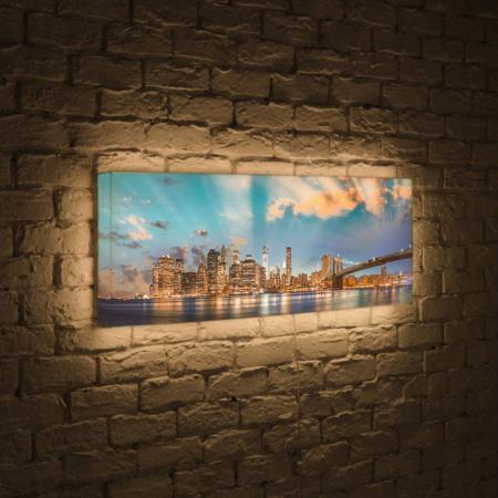 Лайтбокс панорамный Огни NYC 35x105-p016