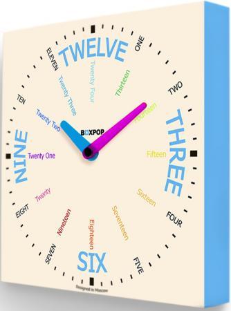 Часы настенные FotonioBox BoxPop VII PB-507-35 белый голубой цена