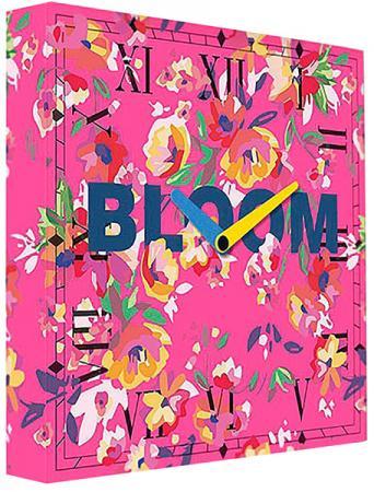 Часы настенные FotonioBox Pink Bloom PB-037-35 розовый