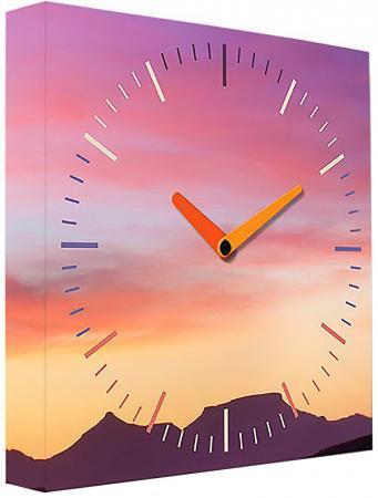 Часы настенные FotonioBox Закат PB-004-35 розовый цена и фото
