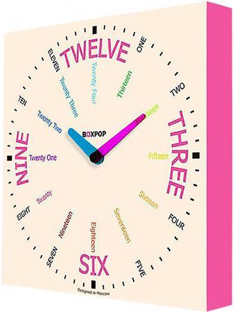 Часы настенные FotonioBox BoxPop VIII LB-508-35 белый розовый LB-508-35 boxpop lb 014 45