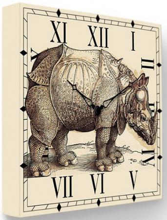 Часы FotonioBox Носорог LB-009-35 бежевый все цены