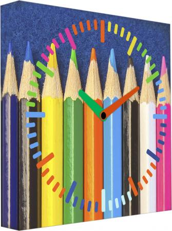 Часы настенные FotonioBox Цветные карандаши LB-005-35 разноцветный рисунок