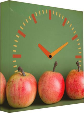 Часы настенные FotonioBox Яблоки LB-011-35 разноцветный рисунок