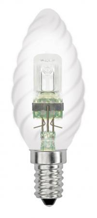 Лампа галогенная свеча Uniel 04113 E14 42W HCL-42/CL/E14 candle twisted e14 3w 270lm 6500k white non dimmable led candle candelabrum lamp bulb silver 6 pcs