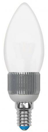 Лампа светодиодная свеча Uniel Cryslal Dimmable E14 5W 3000K LED-C37P-5W/WW/E14/FR/DIM