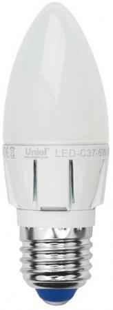 Лампа светодиодная свеча Uniel Palazzo E27 6W 4500K LED-C37-6W/NW/E27/FR/DIM лампа светодиодная ul 00001067 e27 6w 4000k свеча матовая led c37 6w nw e27 fr o