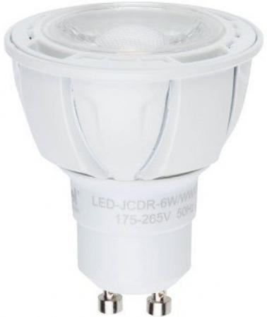Лампа светодиодная рефлекторная Uniel 08700 GU10 6W 4500K LED-JCDR-6W/NW/GU10/FR/DIM/38D лампа светодиодная диммируемая 08700 gu10 6w 4500k jcdr матовая led jcdr 6w nw gu10 fr dim 38d uniel 1177634