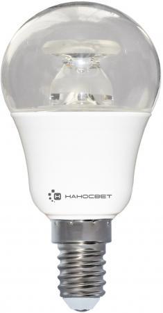 Лампа светодиодная груша Наносвет L236 E14 7.5W 2700K LC-P45CL-D-7.5/E14/827 лампа светодиодная e14 4w 2700k груша зеркальная 106001104