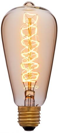Лампа накаливания колба Sun Lumen ST64 F5 E27 40W 2200K 051-927 винтажная лампа эдисон steeple squirrel cage st64 19 нитей