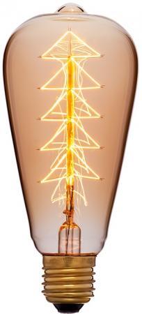 Лампа накаливания колба Sun Lumen ST64 F9 E27 40W 2200K 053-518 винтажная лампа эдисон steeple squirrel cage st64 19 нитей