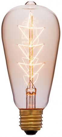 Лампа накаливания колба Sun Lumen ST64 F10 E27 40W 2200K 053-556 винтажная лампа эдисон steeple squirrel cage st64 19 нитей