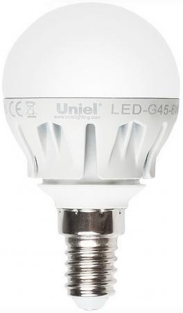 Лампа светодиодная шар Uniel Merli E14 6W 4500K LED-G45-6W/NW/E14/FR ALM01WH