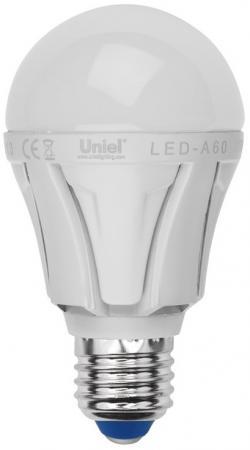 Лампа светодиодная груша Uniel 07888 E27 9W 4500K LED-A60-9W/NW/E27/FR ALP01WH цена