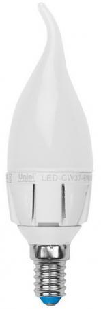 Лампа светодиодная свеча Uniel Palazzo E14 7W 3000K LED-CW37-7W/WW/E14/FR PLP01WH diy 3w 3000k 315lm warm white light round cob led module 9 11v